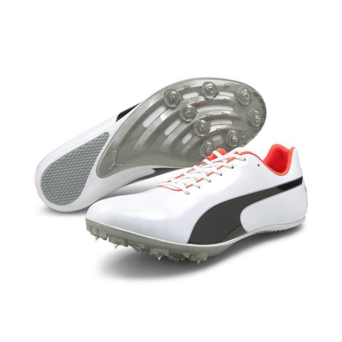 Chaussures de running Puma EvoSpeed Sprint 10 (Unisex) - blanc/noir/orange - 40