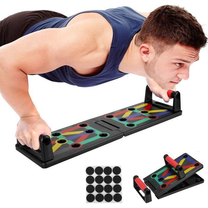 CR 12 en 1 Push Up Board Multifonctionnelle Pliable Poignée de Pompe Appareil Musculation pour Entraînement à Domicile et Fitness