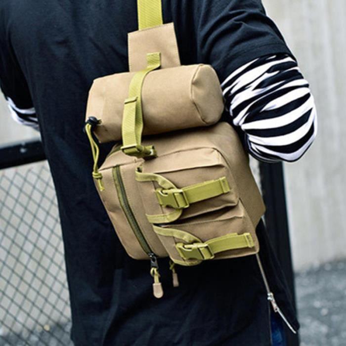 1 pc en plein air Portable bouilloire taille poche sac voyage ceinture à main de tactique pour Camping SAC A DOS DE RANDONNEE