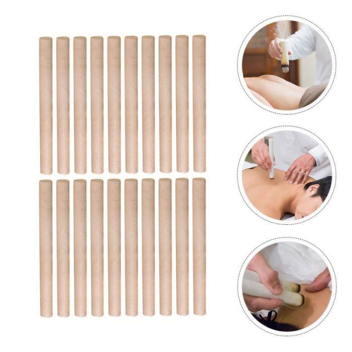 20 pièces Moxa Stick pratique à la main rouleau d'absinthe de Moxibustion bande de appareil de massage manuel corps visage