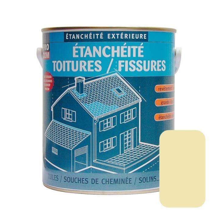 Peinture d'étanchéité pour toiture, réparation tuiles, fissures, anti-fuites, anti-mousse, décore et protège 0.75 litresSable 0,75
