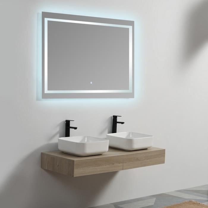 Plan sous vasque - MDF 19 mm - Plaqué en Bois - 120x50 cm - Tendance