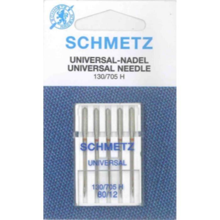 Aiguilles pour machines à coudre Universal Schmetz 80-12 (130-705 H)