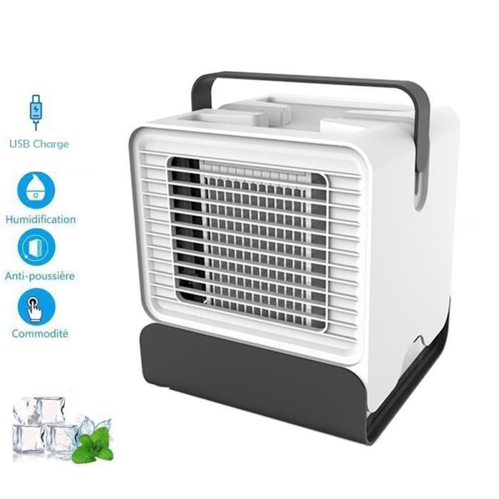 Mini Air Refroidisseur Humidificateur Purificateur 3 EN 1 R/églable Air Climatiseur Pour Maison//Bureau//Camping Blanc Climatiseurs portables,Refroidisseur Dair Usb Mobile,