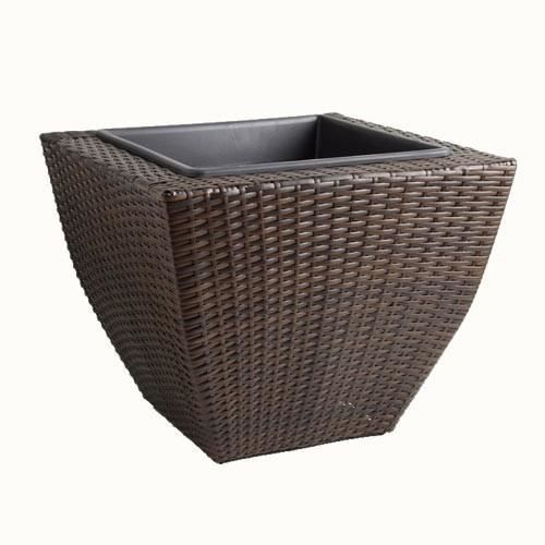cache pot galb en r sine tress e h 35cm achat vente jardini re pot fleur cache pot galb. Black Bedroom Furniture Sets. Home Design Ideas