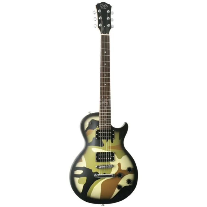 guitare electrique type les paul camouflage a pas cher. Black Bedroom Furniture Sets. Home Design Ideas