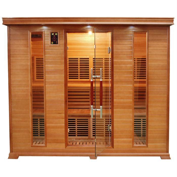 Sauna infrarouge luxe 5 5 places achat vente kit for Sauna maison pas cher