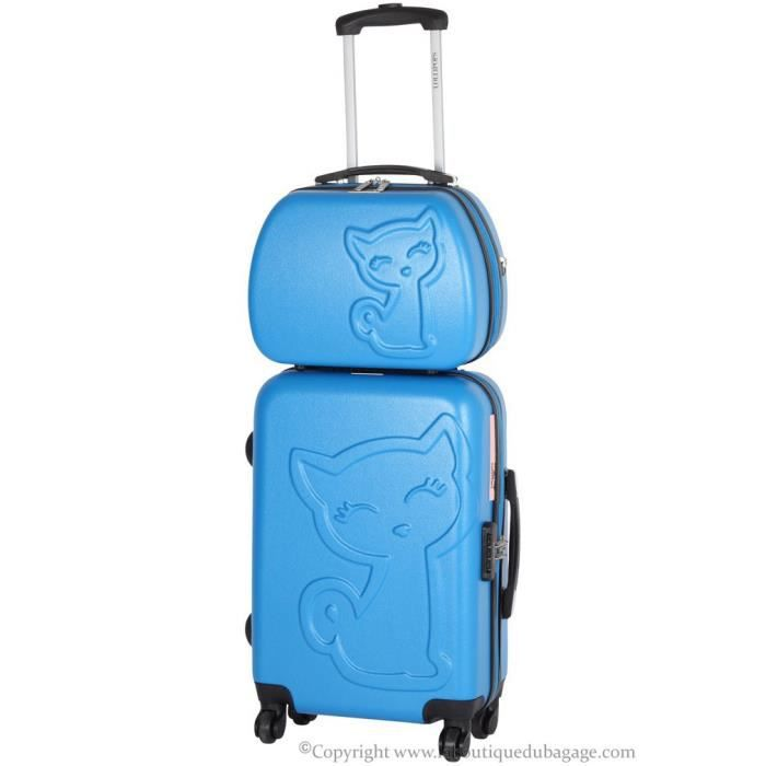 lollipops set valise rigide et vanity pbc bleu achat vente set de valises lollipops