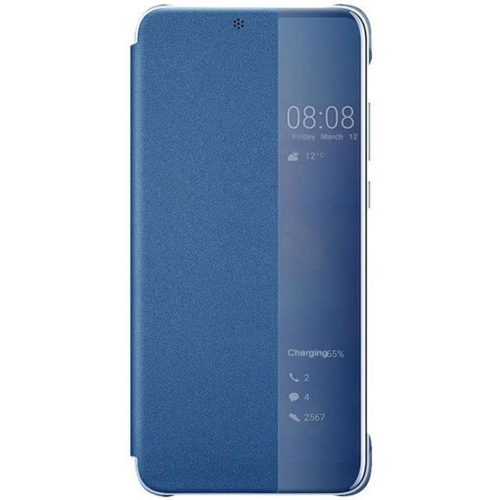 Coque Huawei P20 Pro Smart View Etui Folio Flip Cover Housse ...