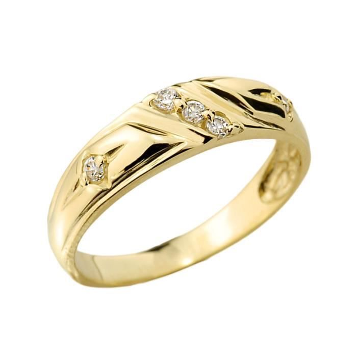 Bague Femme 10 ct Or 471/1000 Diamant