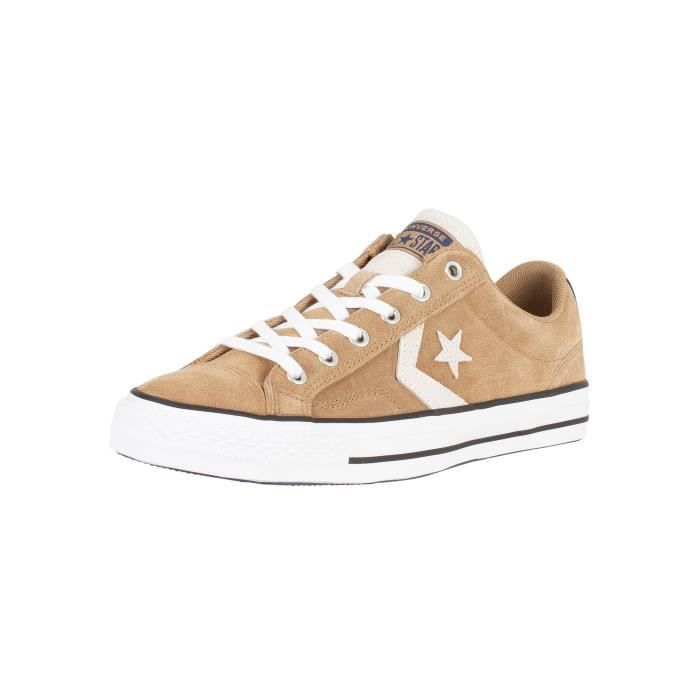 Converse Homme Baskets étoile en daim Ox Player, Marron