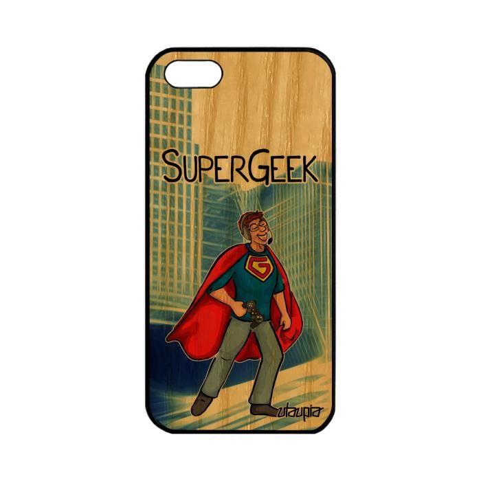 Coque bois Apple iPhone 5 5S SE silicone super gee