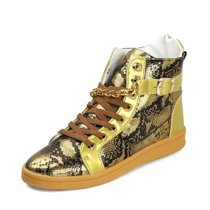 Botte Homme LoisirsVintage Joker Superstar styled'or taille10