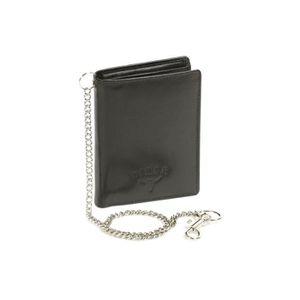 Porte-monnaie Porte-monnaie Portefeuille en Cuir Chopper Moto Wild Chaîne RFID Protection