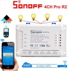 INTERRUPTEUR ÉLECTRO. Sonoff 4CH Pro R2 433MHz WiFI Smart Switch 3 modes