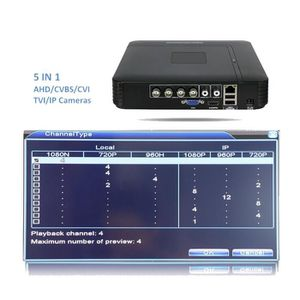 CAMÉRA DE SURVEILLANCE 2019 Hiseeu AHDNH 1080N 4CH CCTV DVR Mini DVR pour