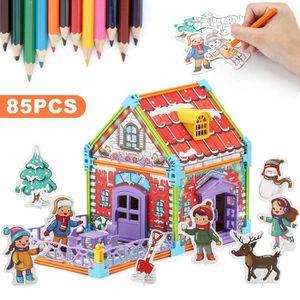 JEU DE PEINTURE nicknack Puzzle de Noël pour Enfants, Puzzle à col