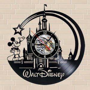 HORLOGE - PENDULE Horloge Vinyle Disney Mickey – Déco, Salon, Chambr