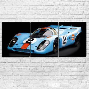 TABLEAU - TOILE toile peintures imprimées 3 pièces Super Racing vo