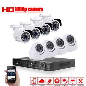 CAMÉRA DE SURVEILLANCE sécurité à domicile 8ch AHD 1080P 2.0MP HD caméra