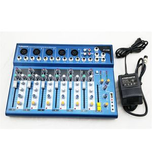 Système d'écoute 7 canaux Mélangeur d'entrée USB F7 pour Stage Home