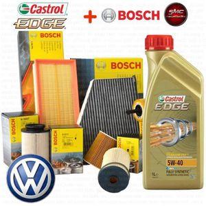 HUILE MOTEUR KIT DE REVISION 4 FILTRES BOSCH VW-5 L HUILE MOTEU