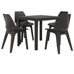 Ensemble table et chaise de jardin Festnight Ensemble de salle à manger d'extérieur 5