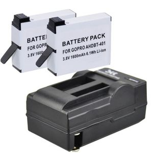 PACK CAMERA SPORT 2 Batteries + Chargeur pour GoPro. AHDBT-401