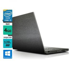 "Achat PC Portable Pc portable Lenovo thinkpad X240 12,5"" 4GO SSD 120GO Windows 10 Grey Metallic pas cher"