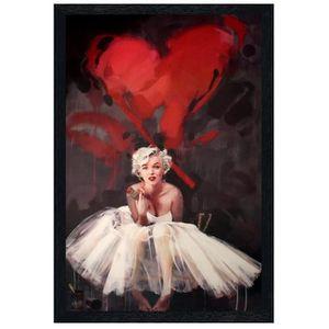AFFICHE - POSTER Poster 61x91,5cm cadre en bois noir Paint By James