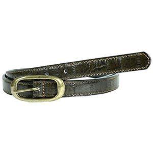 Nouveau Haut Largeur 25 mm Lizard Imprimer Argent Boucle en Cuir Premium ceintures