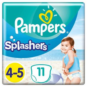 COUCHE Pampers Splashers Taille 4-5, 9-15 kg, 11 Couches-