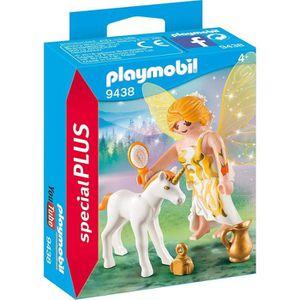 FIGURINE - PERSONNAGE PLAYMOBIL 9438 - Fairies - Fée et bébé licorne - N