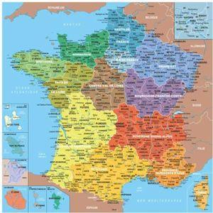 PUZZLE Puzzle Michèle Wilson - Puzzle carte de France des