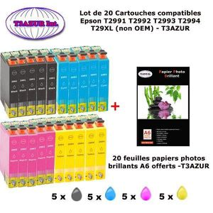 PACK CARTOUCHES 20 Pack compatible Epson T2991 T2992 T2993 T2994 p