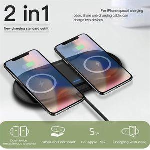 CHARGEUR TÉLÉPHONE 2 en 1 QI chargeur sans fil pour iPhone X XS Max X
