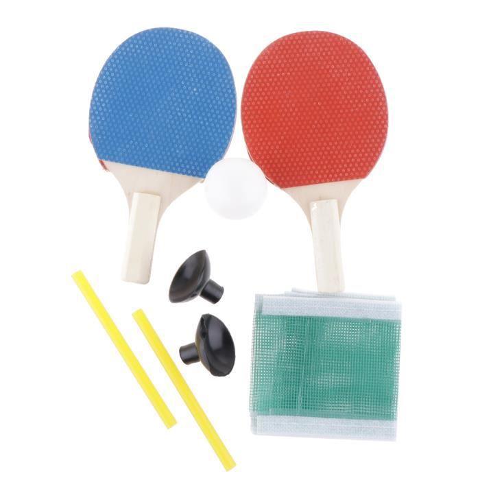 1 Paire De Tennis De Table Set De Ping-pong Raquettes De Paddle Kit Portable Pour La Pratique