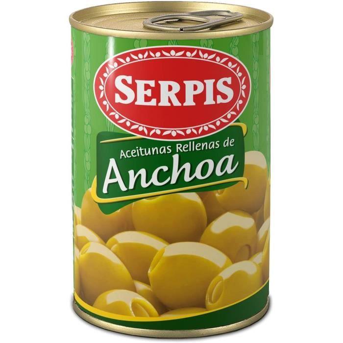 Olives farcies aux anchois serpis