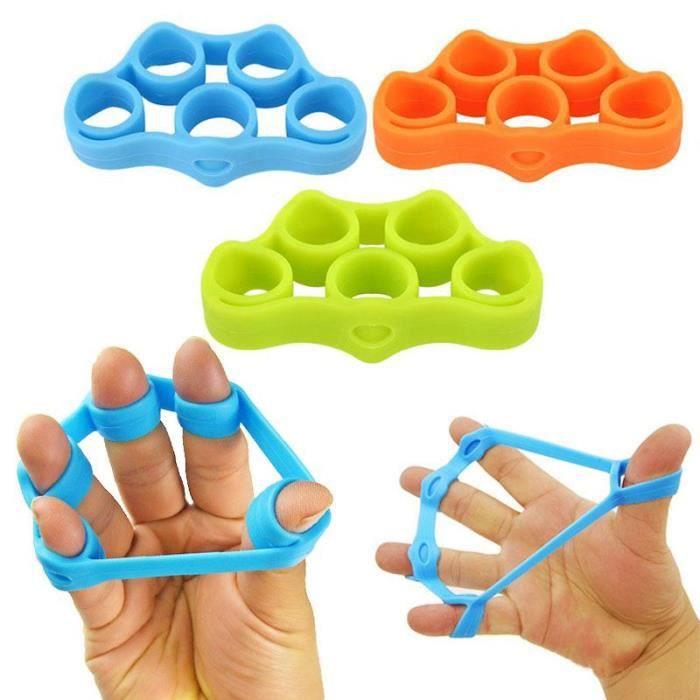 kingwing® 3 PCs silicone doigt pince force formateur résistance bande main grip poignet massage main relaxation doigt expandeur rela