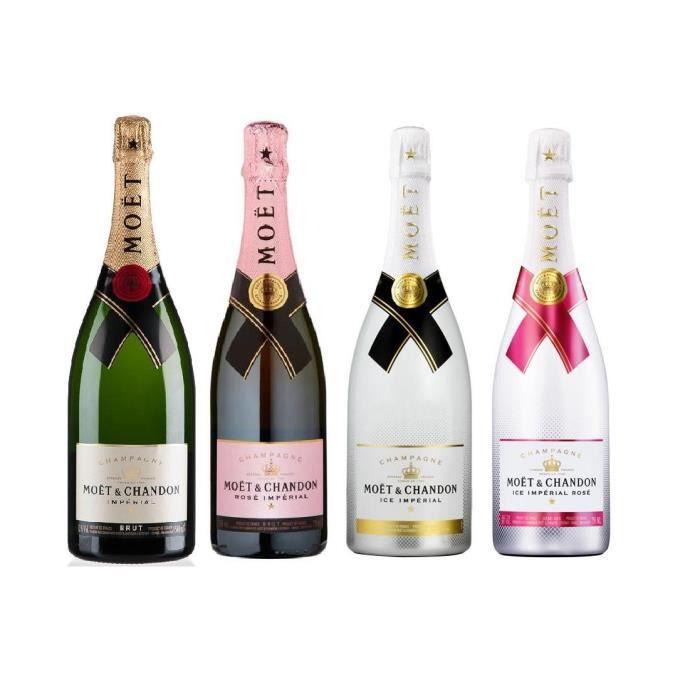 Lot découverte 4 Champagnes Moët & Chandon