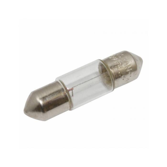 Ampoule-lampe 12v 3w norme c3w culot sv8,5-8 navette standard blanc (feu arriere+stop) (vendu a l'unite) -osram-