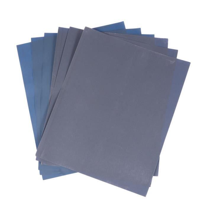 6 pièces papier abrasif de précision sec et humide pratique pour bois Turing meubles SKATEBOARD - SHORTBOARD - LONGBOARD - PACK