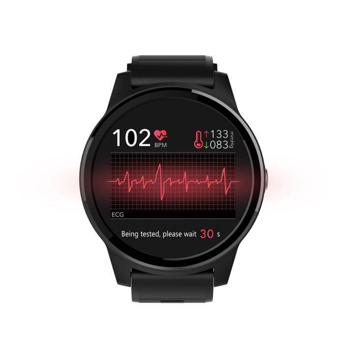 North Edge Keep Montre intelligente EGG & PPG Moniteur de sommeil de fréquence cardiaque Image Bluetooth IP67 Montre intelligente ét