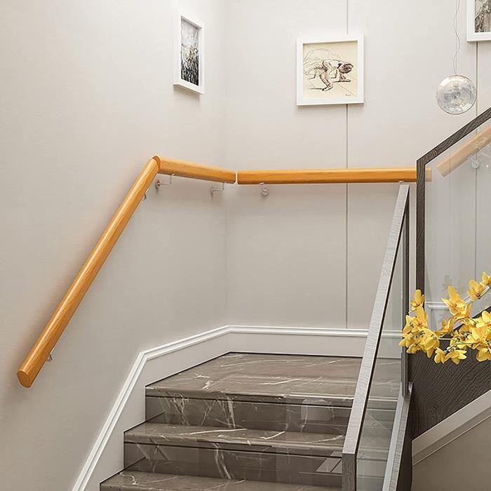 Rampe D'escalier Intérieur 30-280cm Main Courante Bois Rampe Escalier Antidérapantes,pour Bars,Lofts,Jardin d'enfants,Couloir,[340]