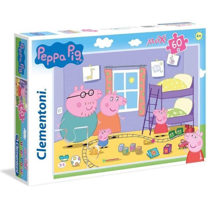 Clementoni - 26438 - SuperColor 60 pièces Maxi - Peppa Pig