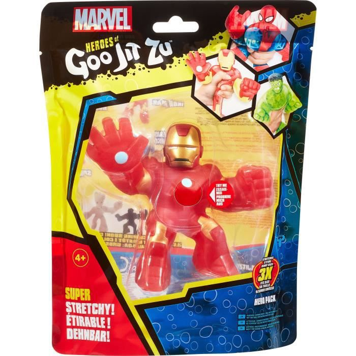 Goo Jit Zu Marvel - 41138 - Figurine 11cm Iron Man