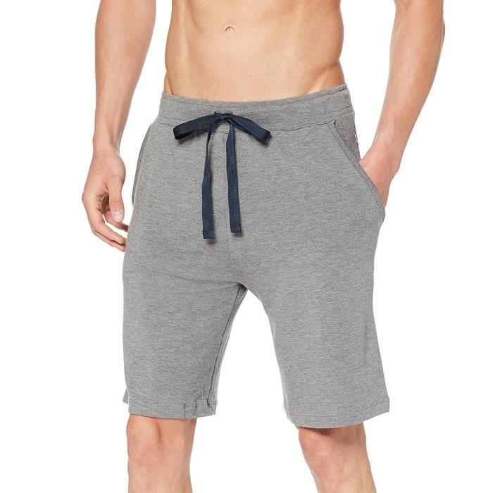 Huber 24 Hours Men Lounge Jogginghose Bermuda Short, Gris (Stone Mele 6627), W(Taille du Fabricante: XL) Homme - 117802-6627