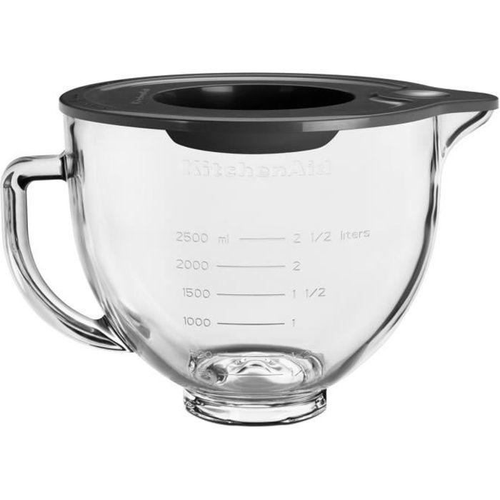 KITCHENAID - Bol en verre 4.7l pour robot pâtissier - 5KSM5GB