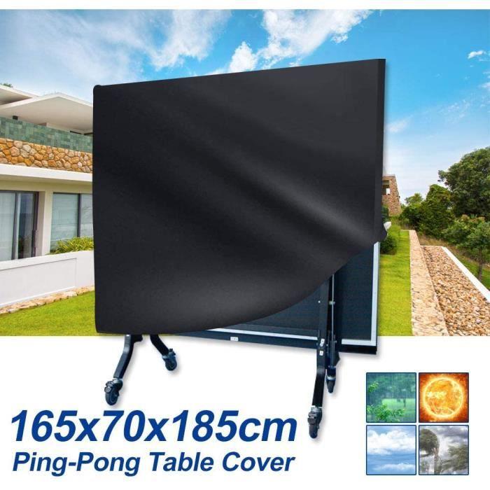 Housse Table Ping Pong Table de Tennis de Table Housse de Protection Bâche Imperméable Oxford Polyester Couverture165×70×185 cm