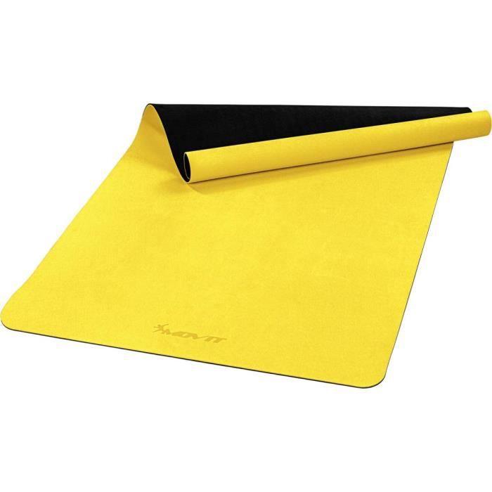 MOVIT Tapis de gymnastique XXL TPE, tapis de pilates, tapis d'exercice premium, tapis de yoga, 190 x 100 x 0,6 cm, jaune